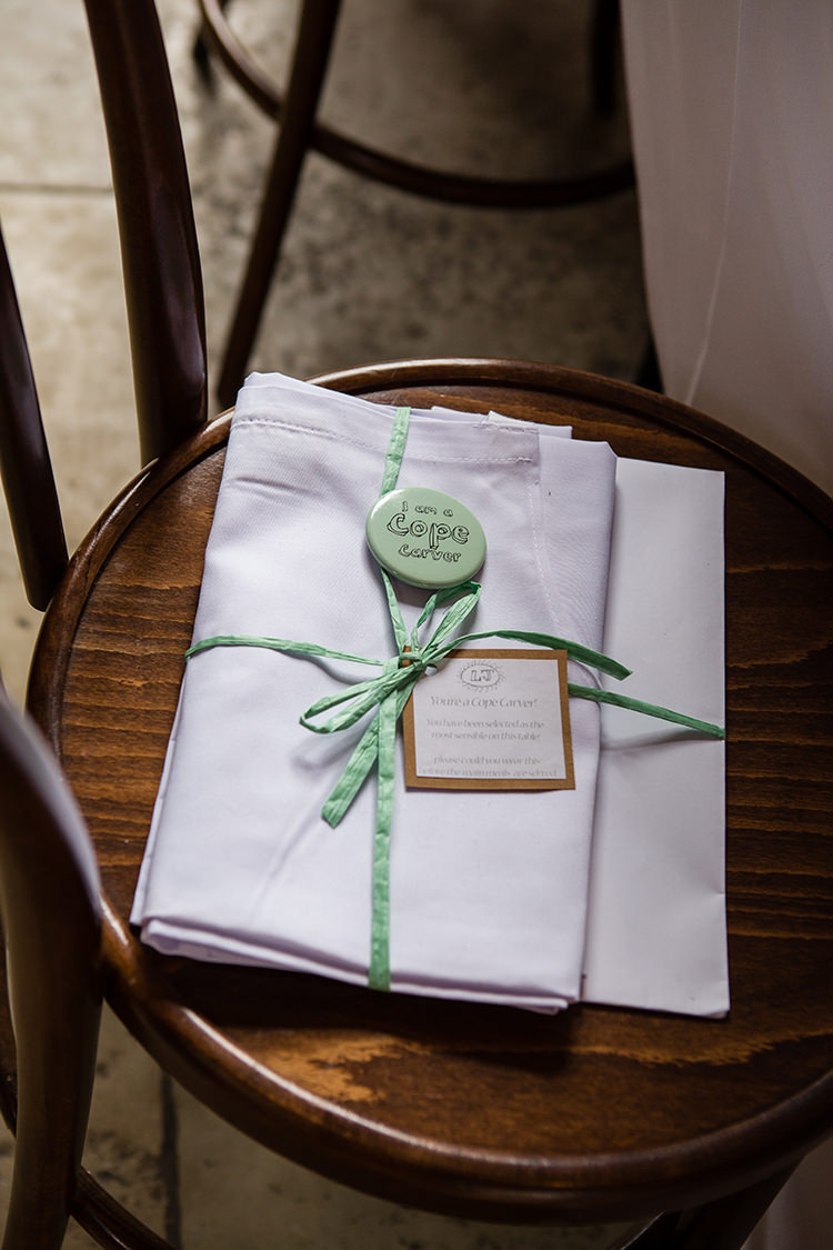Apron Carver Gift Pretty Natural Floral Barn Wedding http://www.johastingsphotography.co.uk/