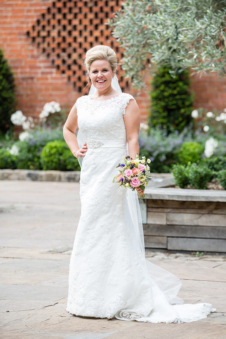 Mori Lee Dress Gown Lace Bride Bridal Straps Pretty Natural Floral Barn Wedding http://www.johastingsphotography.co.uk/