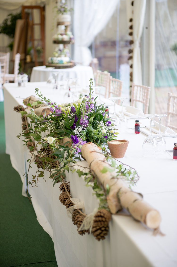 Purple Amp Green Rustic Woodland Glade Wedding Whimsical
