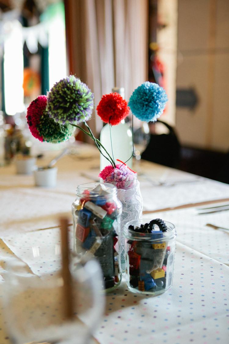 Wedding Pom Pom Decor Tables Centrepiece DIY https://matildarosephotography.com/