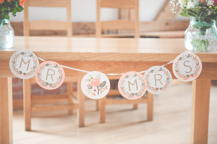 Personalised Paper Wedding Bunting Ideas Decor Decoration http://lisahowardphotography.co.uk/