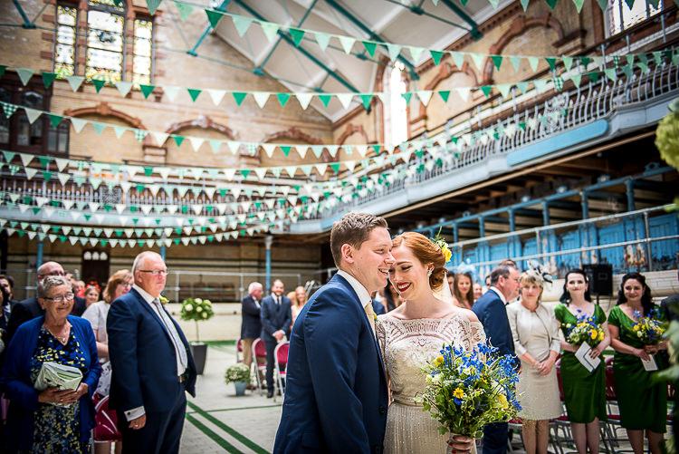 Victoria Baths Manchester Quirky Film DIY Wedding http://jamestraceyphotography.com/