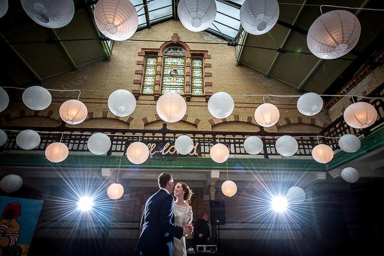 Lanterns Lights Quirky Film DIY Wedding http://jamestraceyphotography.com/
