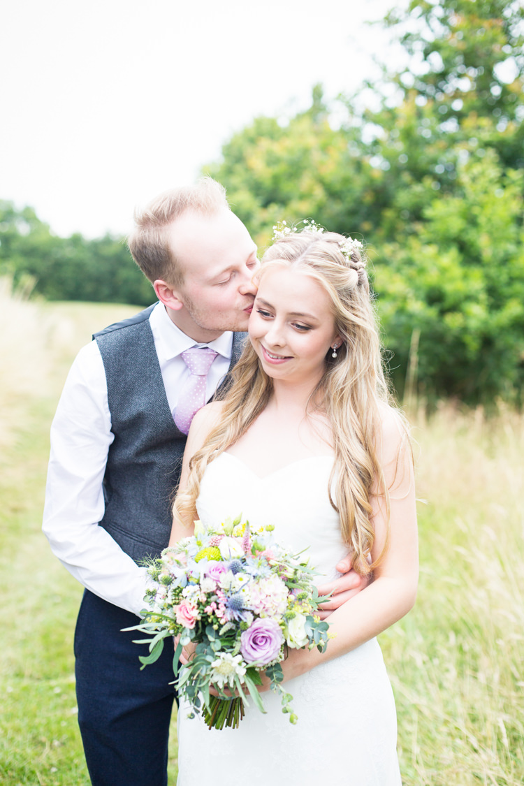 Long Hair Waves Bride Bridal Style Flowers Pretty Fresh Summer Wedding http://www.charlotterazzellphotography.com/