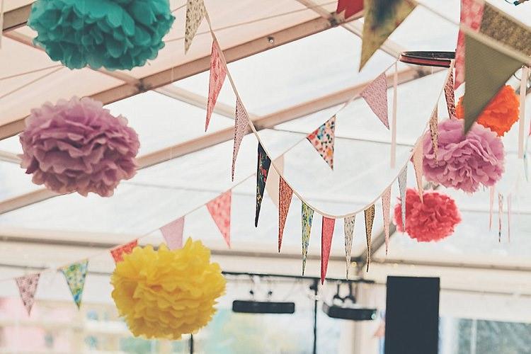 Wedding Pom Poms Colourful Rainbow Ideas http://www.jessicawitheyphotography.com/