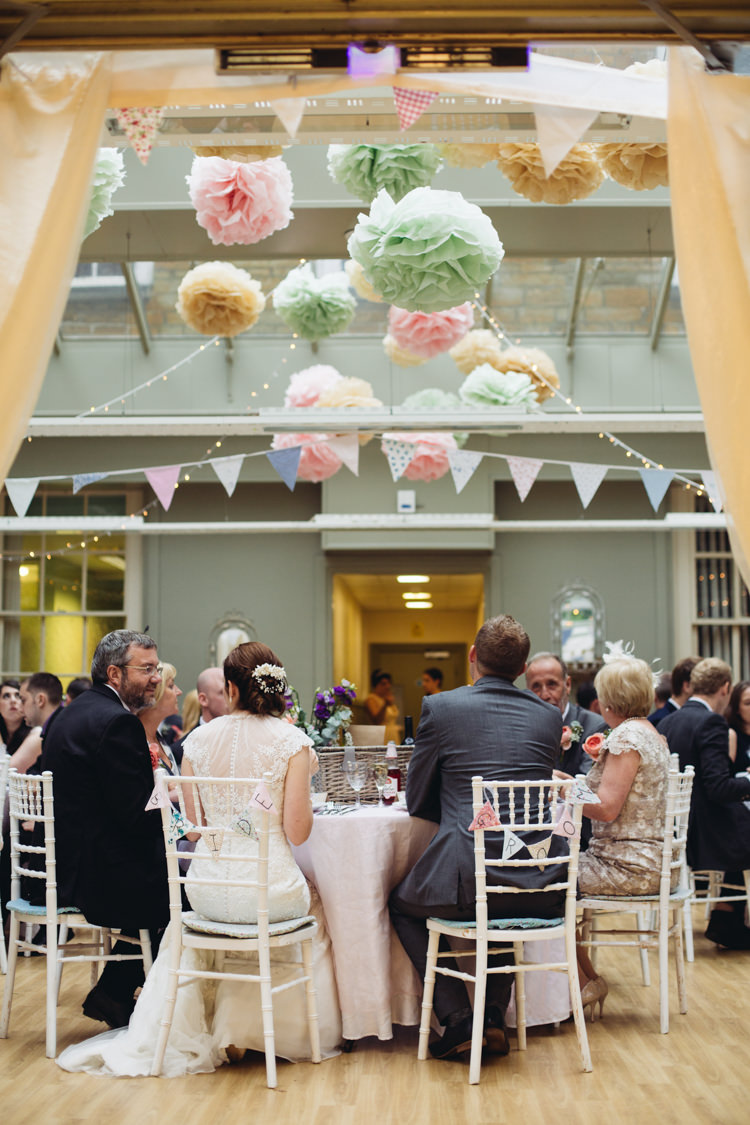 Wedding Pom Pom Ideas Pastel Hanging http://www.catlaneweddings.com/
