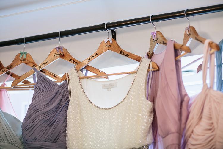 Custom Hangers Bride Bridesmaids Bohemian Floral Vineyard Wedding http://albertpalmerphotography.com/