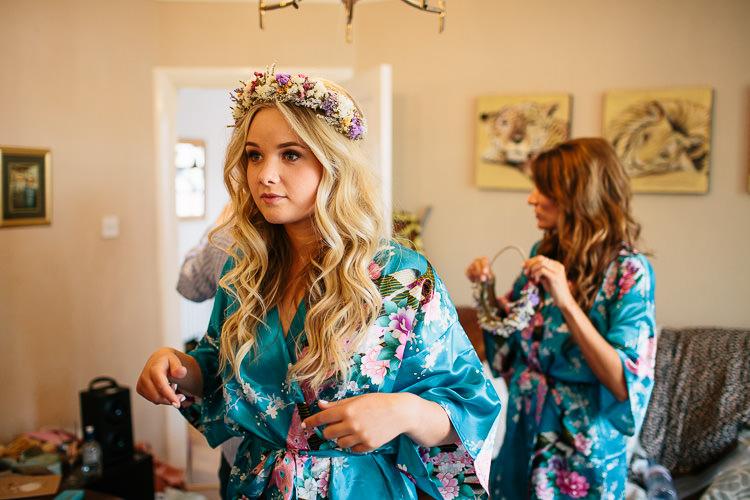 Long Blonde Hair Bride Bridal Waves Dried Flower Crown Bohemian Floral Vineyard Wedding http://albertpalmerphotography.com/