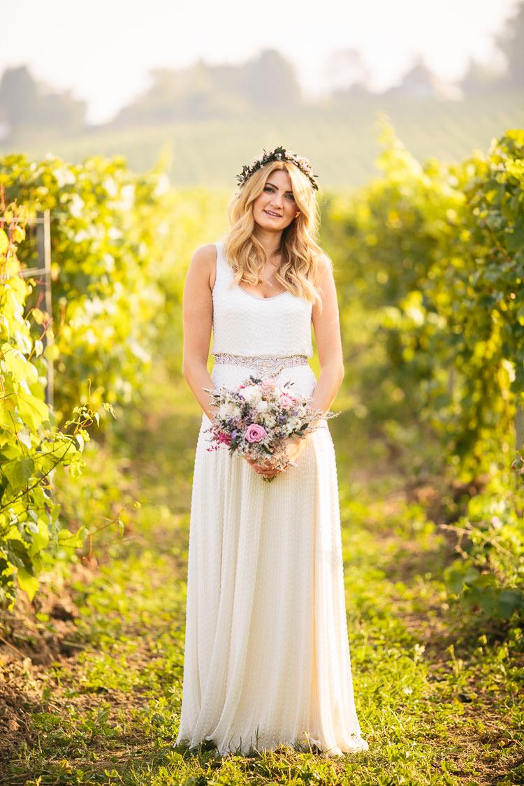 Beaded Dress Gown Bride Bridal Jenny Packham Kathleen Bohemian Floral Vineyard Wedding http://albertpalmerphotography.com/