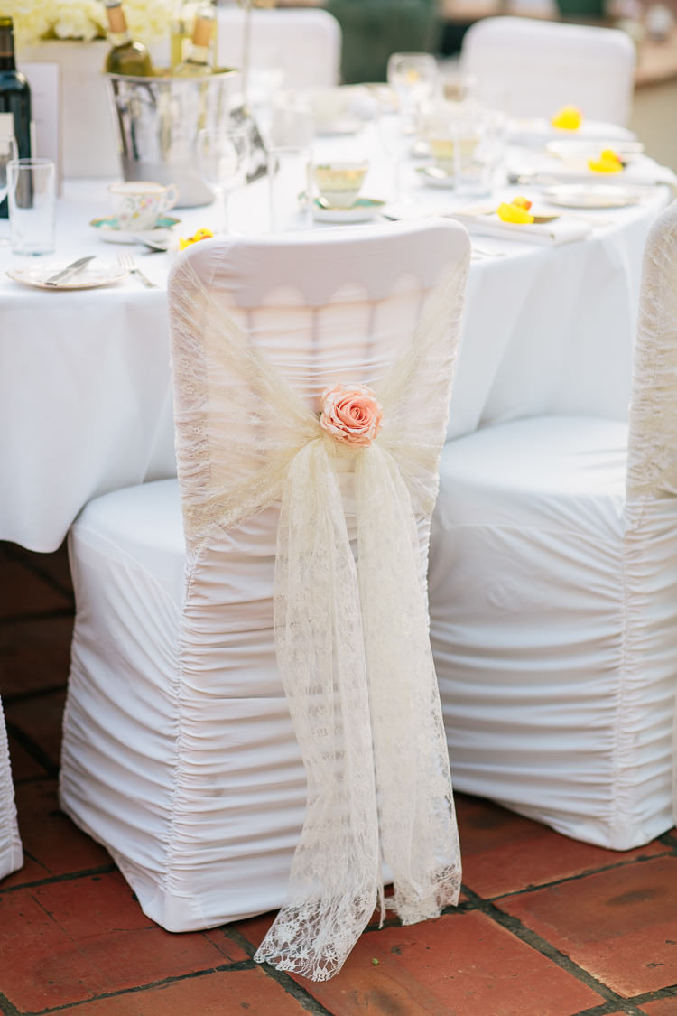 Lace Chair Covers Flowers Bohemian Floral Vineyard Wedding http://albertpalmerphotography.com/