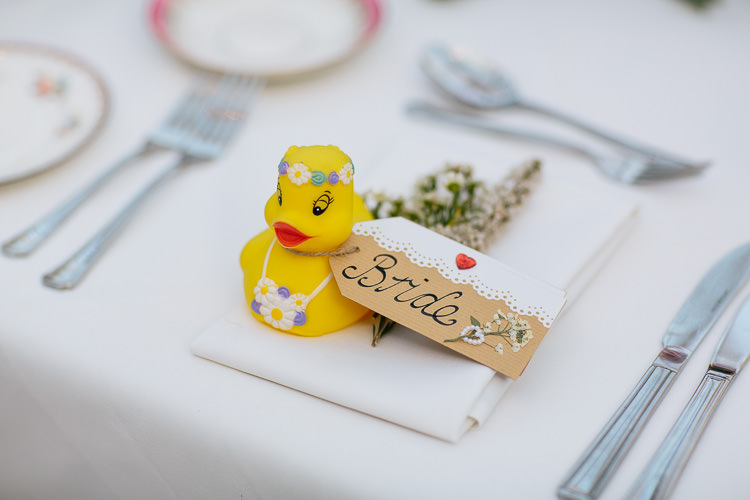 Duck Luggage Tag Bohemian Floral Vineyard Wedding http://albertpalmerphotography.com/