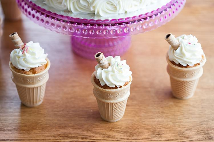 Ice Cream Cones Cake Bright Fresh Mexican Inspired Wedding http://www.photographybykatie.co.uk/