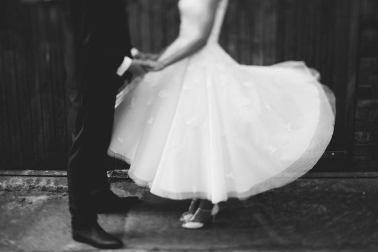 Short Dress Gown Bride Bridal Vintage Relaxed DIY Pastel Wedding http://www.honeyandthemoonphotography.co.uk/