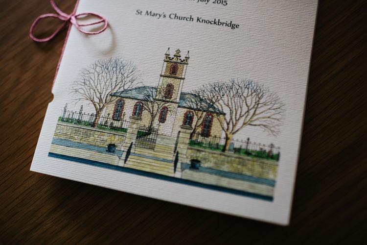 Painted Church Invitation Stationery Relaxed DIY Pastel Wedding http://www.honeyandthemoonphotography.co.uk/