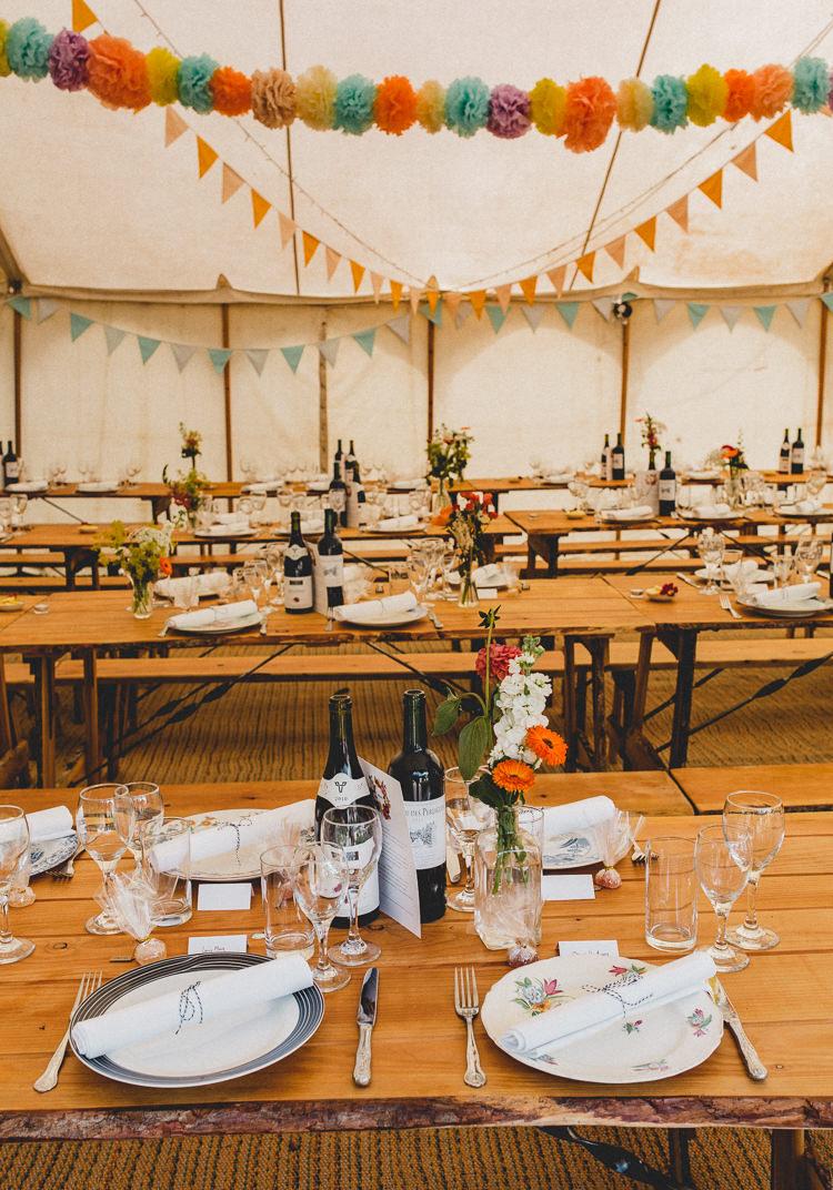 Wedding Pom Pom Ideas Tipi Garland http://www.noeldeasington.com/