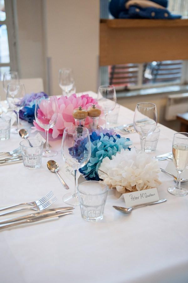 Wedding Pom Pom Centrepiece Decor Tables http://fionasweddingphotography.co.uk/