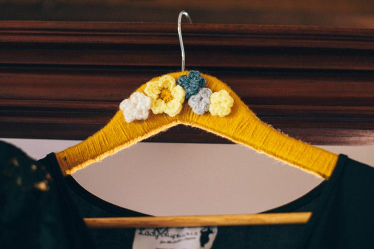 Custom Hanger Bridesmaid Crafty Rainbow Crochet Wool Wedding http://katherinemager.com/