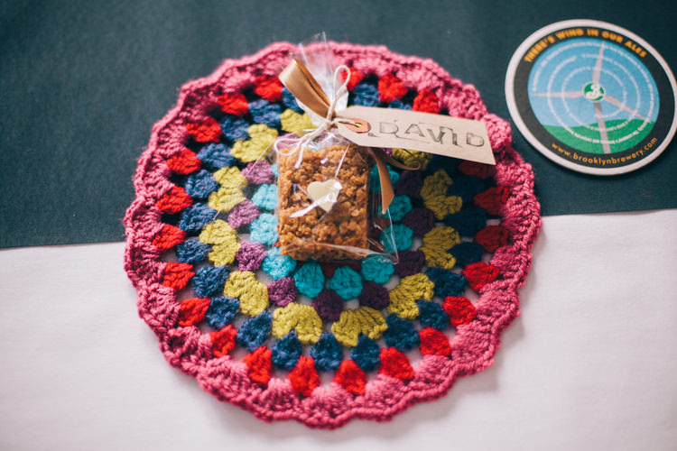 Doily Favour Flapjack Crafty Rainbow Crochet Wool Wedding http://katherinemager.com/