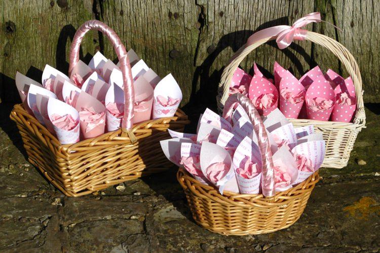 Confetti Baskets. Credit- The Real Flower Petal Confetti Company