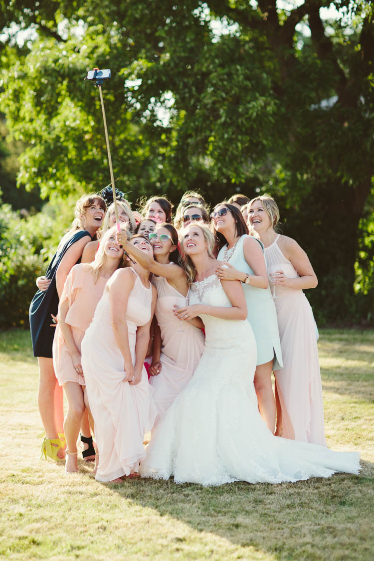 Selfie Mint Gold Peach Summer Marquee Wedding http://elizaclaire.com