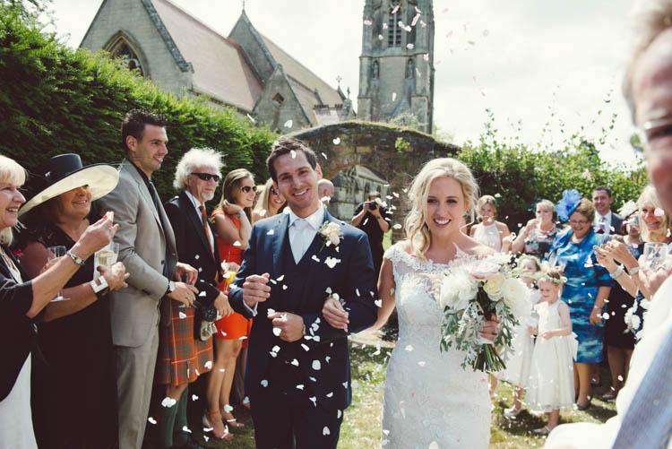 Confetti Throw Mint Gold Peach Summer Marquee Wedding http://elizaclaire.com