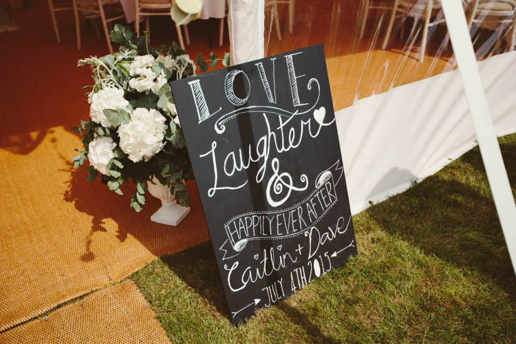 Black Chalk Board Welcome Sign Mint Gold Peach Summer Marquee Wedding http://elizaclaire.com