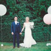 Mint Gold & Peach Summer Marquee Wedding