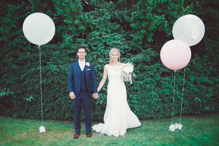 Balloons Mint Gold Peach Summer Marquee Wedding http://elizaclaire.com