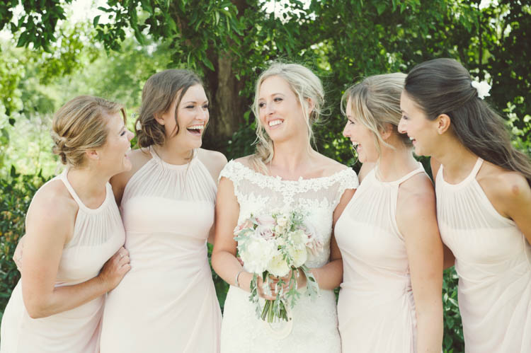 Pale Pink Bridesmaid Dresses Mint Gold Peach Summer Marquee Wedding http://elizaclaire.com