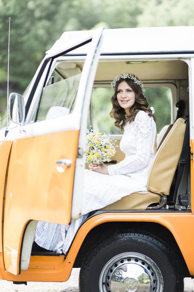 VW Camper Bohemian Loch Pine Forest Wedding http://solenphotography.co.uk/