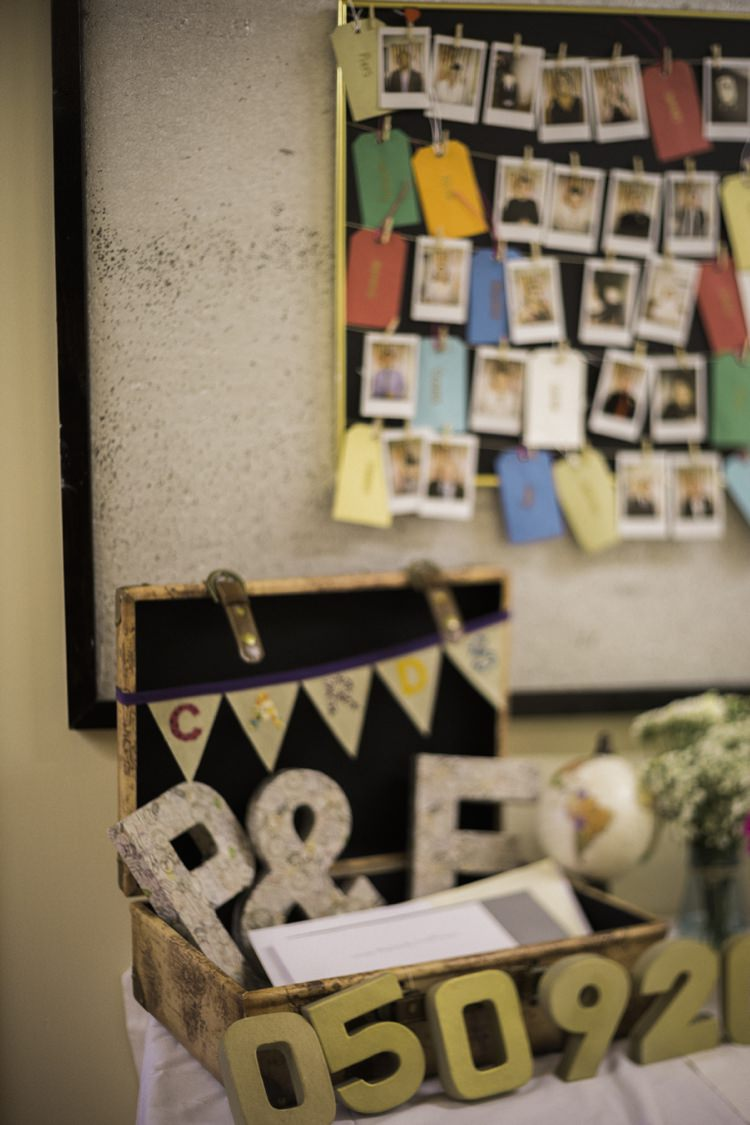 Card Suitcase Bohemian Loch Pine Forest Wedding http://solenphotography.co.uk/