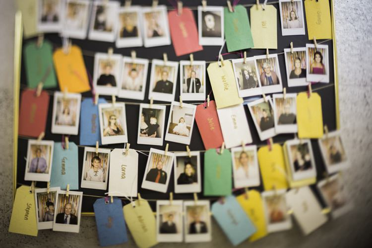 Polariod Guest Book Bohemian Loch Pine Forest Wedding http://solenphotography.co.uk/