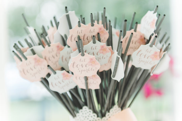 Sparklers Let Love Sparkle Pretty Pastel Sparkly Wedding https://www.georgimabee.com/