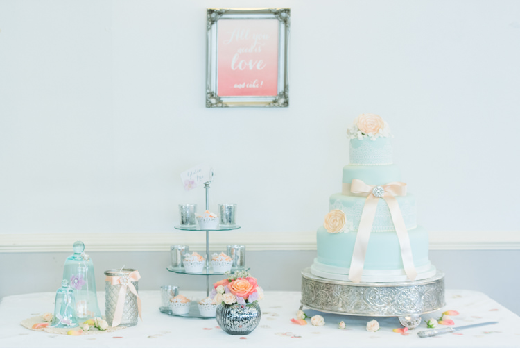 Cake Dessert Table Pretty Pastel Sparkly Wedding https://www.georgimabee.com/