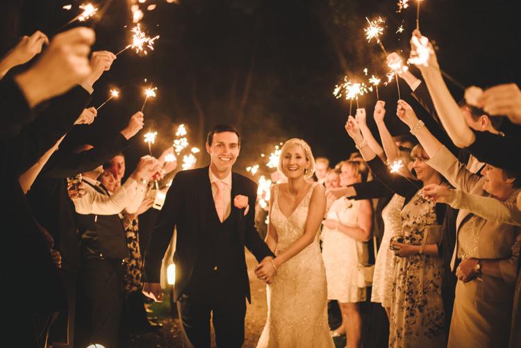 Sparkler Exit Bride Groom Pretty Pastel Sparkly Wedding https://www.georgimabee.com/