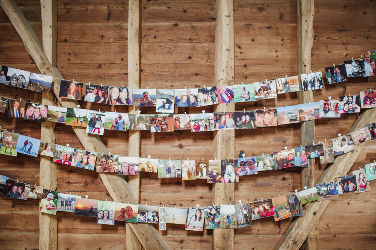 Photo Wall Peg String Pretty Blue Country Barn Spring Wedding http://karenflowerphotography.com/