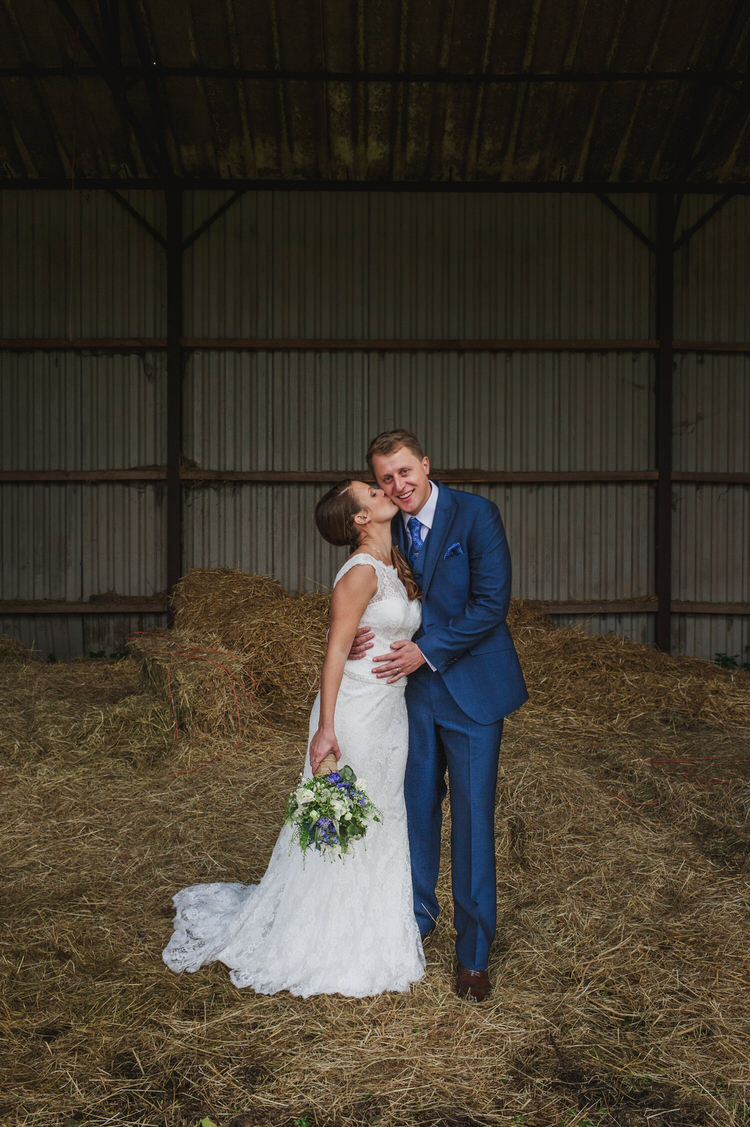 Verise Bridal Lace Dress Gown Bride Pretty Blue Country Barn Spring Wedding http://karenflowerphotography.com/