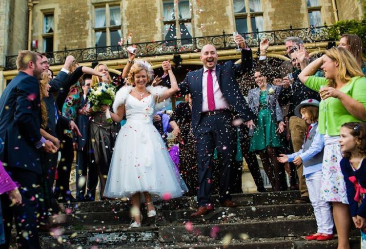 Helen & Dean. With permission- The Real Flower Petal Confetti Company