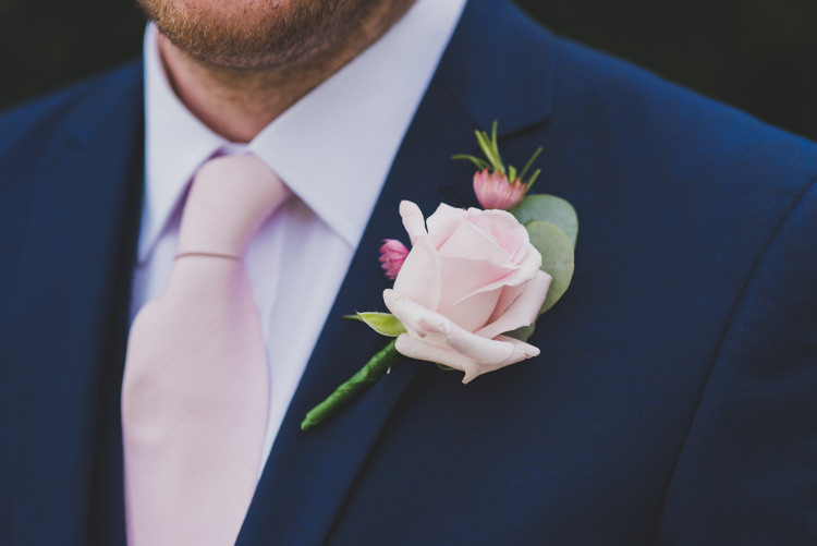 Pale Pink Rose Buttonhole Groom Victorian Railway Station Wedding http://annamorganphotography.co.uk/