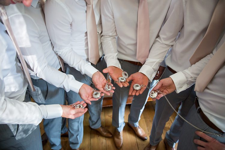 Groomsmen Gift Pocketwatch Pastel Country Garden Wedding http://www.katherineashdown.co.uk/