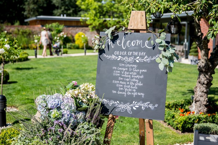 Black Board Chalk Welcome Sign Pastel Country Garden Wedding http://www.katherineashdown.co.uk/