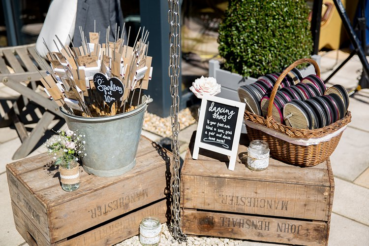 Sparklers Crates Dancing Shoes Pastel Country Garden Wedding http://www.katherineashdown.co.uk/