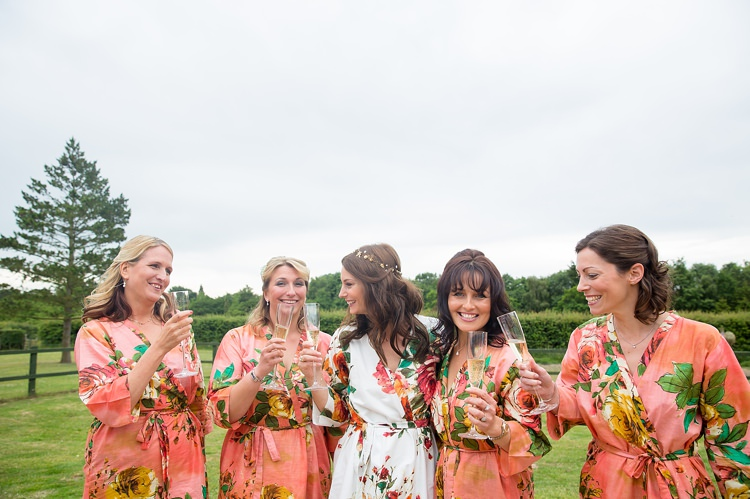 Floral Dressing Gown Bride Bridesmaids Natural Soft Stylish Luxe Wedding http://www.katherineashdown.co.uk/