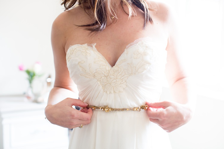 Twine Gold Belt Bride Bridal Dress Natural Soft Stylish Luxe Wedding http://www.katherineashdown.co.uk/