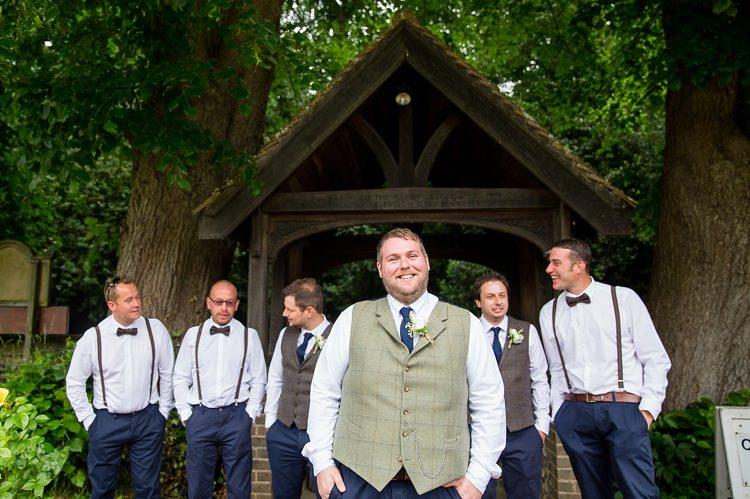 Tweed Waistcoat Groom Knitted Tie Braces Bow Tie Groomsmen Natural Soft Stylish Luxe Wedding http://www.katherineashdown.co.uk/