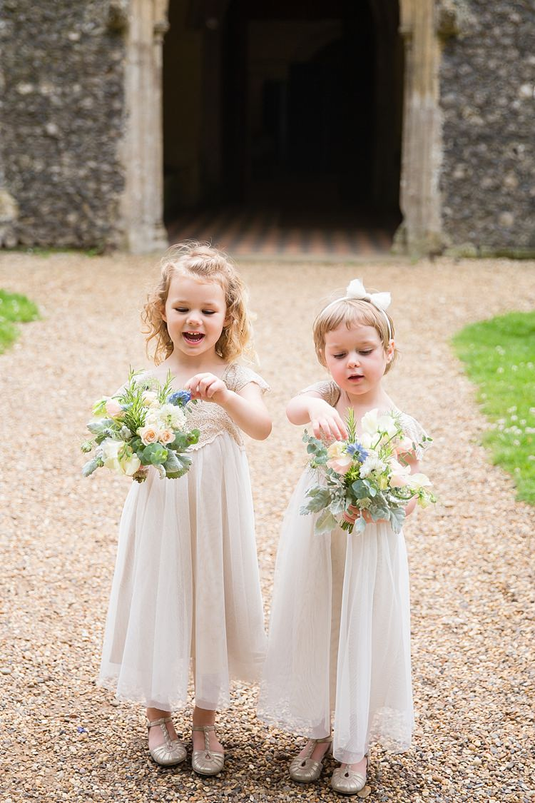 Flowergirls White Monsoon Dresses Natural Soft Stylish Luxe Wedding http://www.katherineashdown.co.uk/