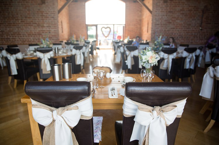 Hessian White Fabric Chair Bow Covers Natural Soft Stylish Luxe Wedding http://www.katherineashdown.co.uk/