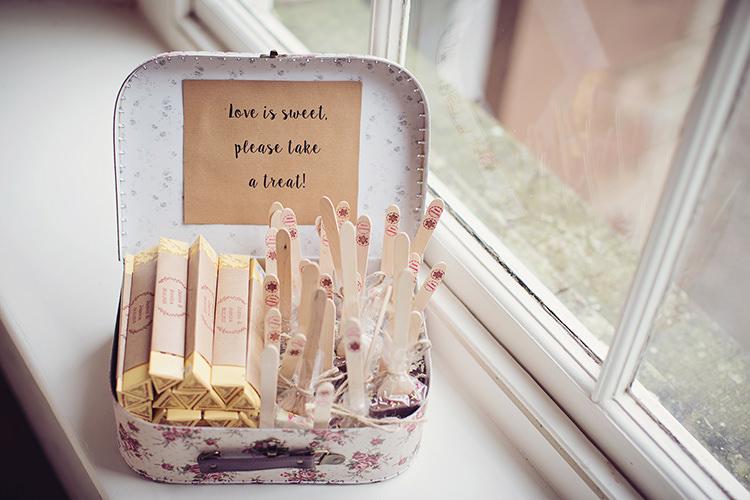 sweet favours sticks suitcase alpine winter christmas wedding httpwwwtireedawson