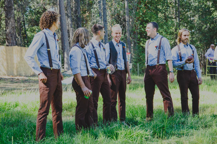 Groom Groomsmen Chinos Braces Brown Blue Waistcoat Farmer's Wedding Forest http://www.lenkalandphotography.com/