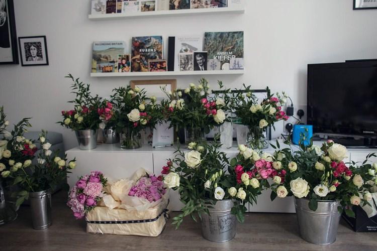 Flowers Buckets DIY Bright Fun Pink Peonies Wedding http://assassynation.co.uk/